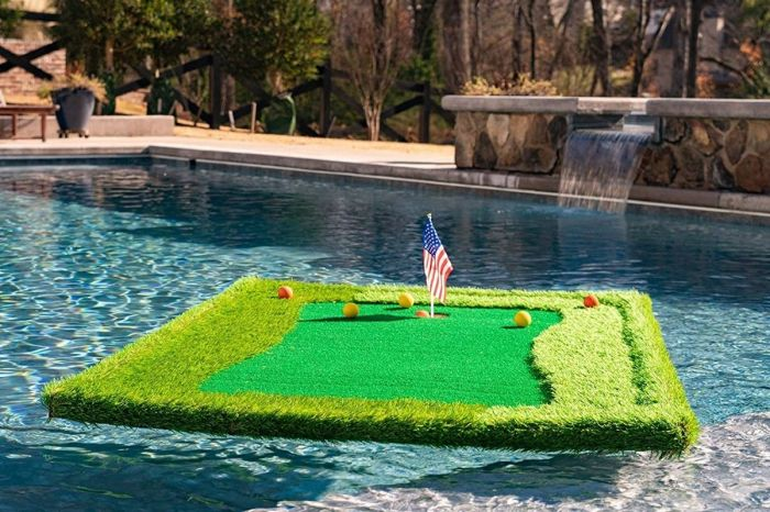 Backyard Golf Just Got Better Thanks to Floating Putting Green