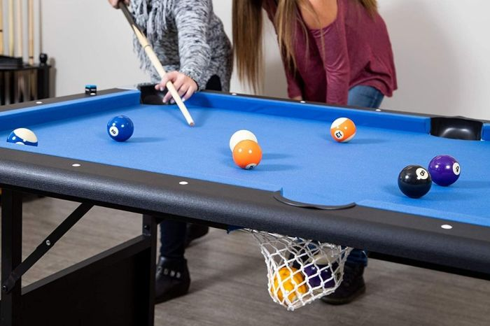This Folding Pool Table Is the Perfect Addition to the Game Room