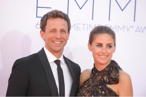 Seth Meyers' Wife Gave Birth in an Apartment Lobby