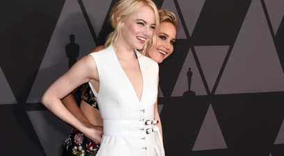 Emma Stone and Jennifer Lawrence Became BBFs Through a Mutual 'Stalker'