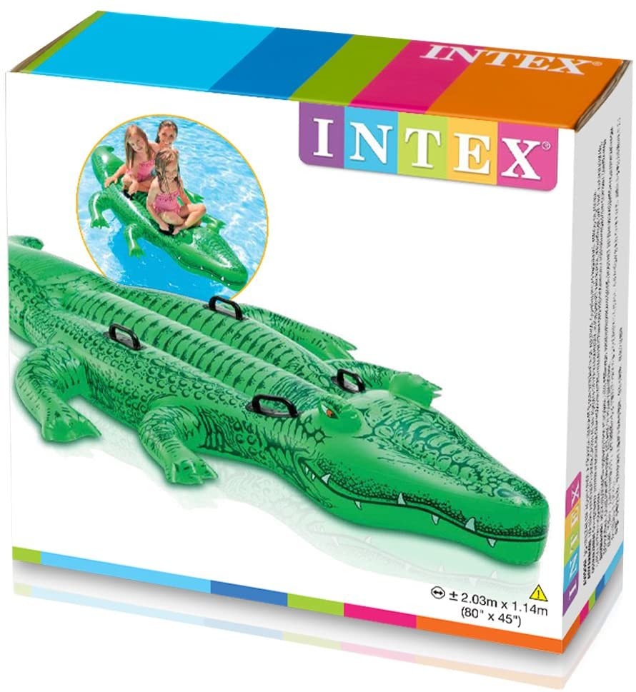 Intex Giant Gator Ride-On, 80 X 45, for Ages 3+