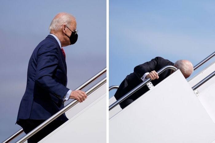 Trump 'Expected' Biden's Air Force One Fall, Believes Kamala Harris May Replace Him as President