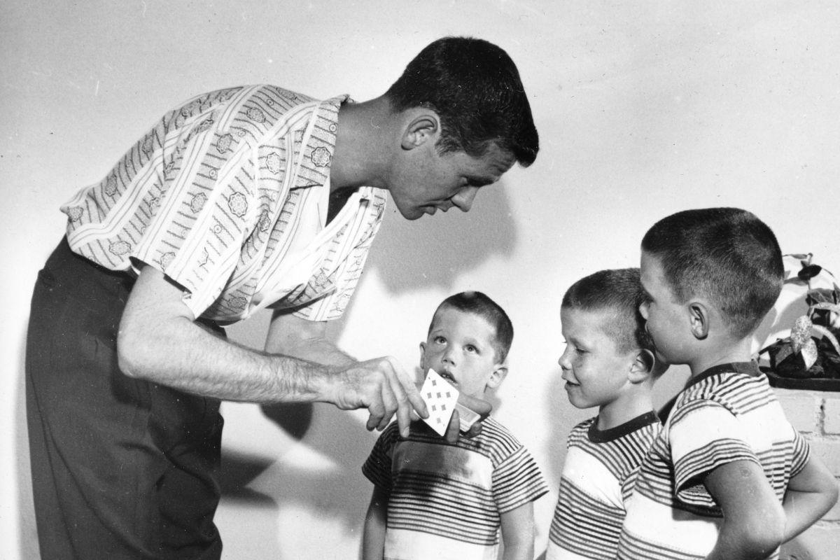 Johnny Carson and children