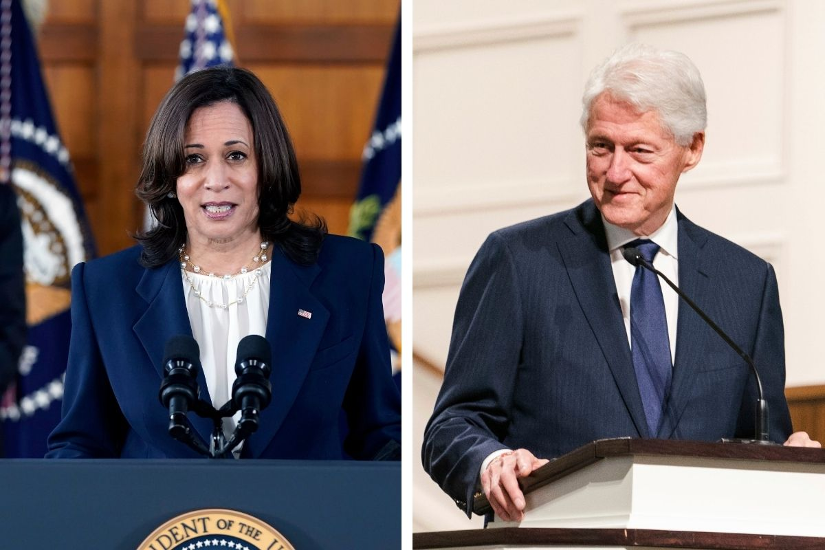 Kamala Harris Criticized for Holding Women Empowerment Discussion with Bill Clinton