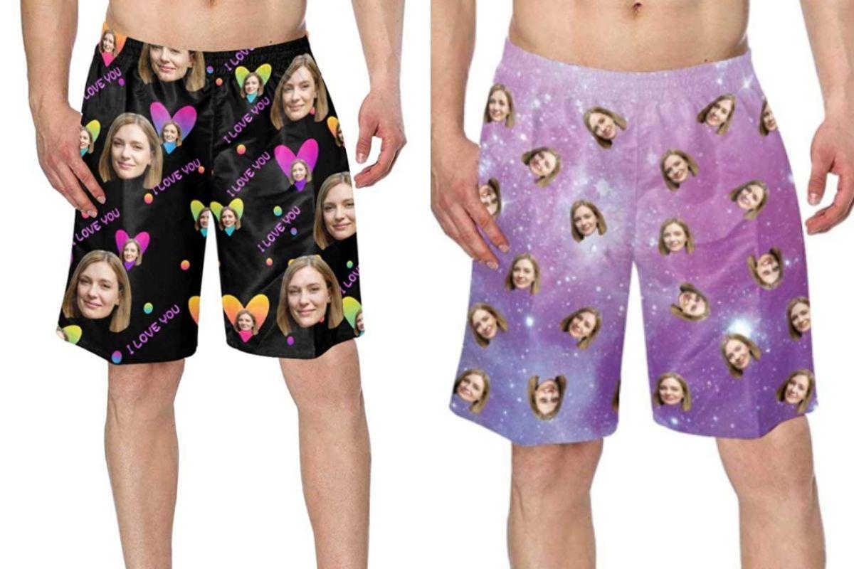 funny swim trunks
