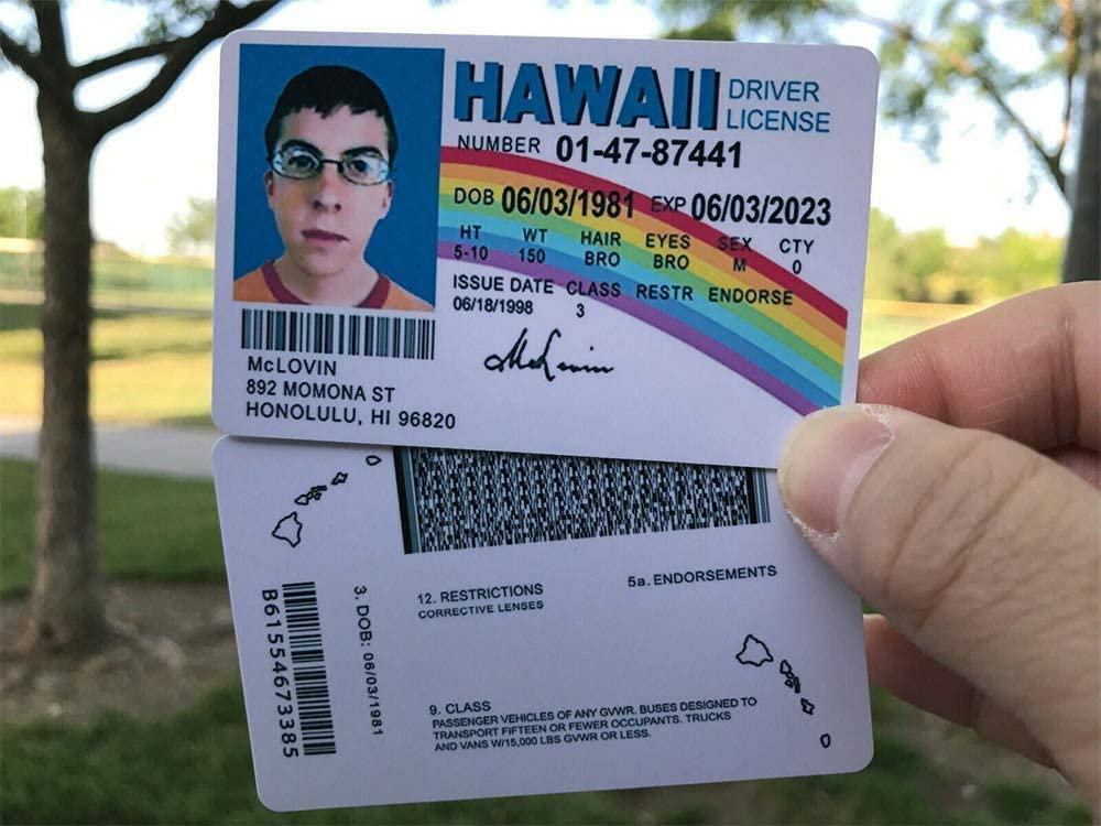 3pack McLovin ID Card McLovin Fun Fake ID License Card -Superbad Fake Joke ID License - Funny Gag Gift Prank - ID McLovin ID Cards1 Pack - Fake ID License - Funny Gag Gift Prank - ID McLovin ID Cards