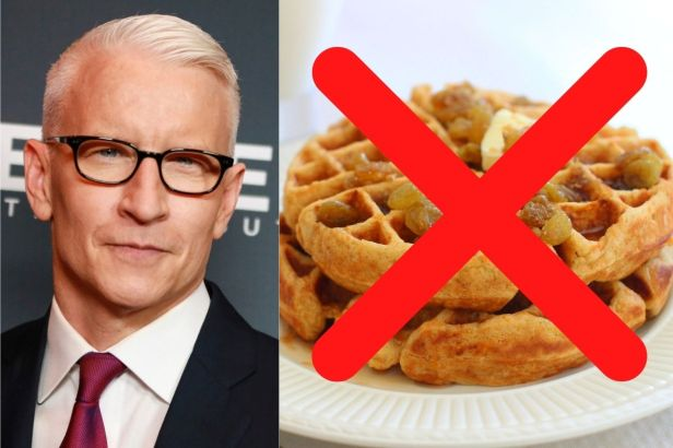 Anderson Cooper Eats The Same Boring Meal Every Day!