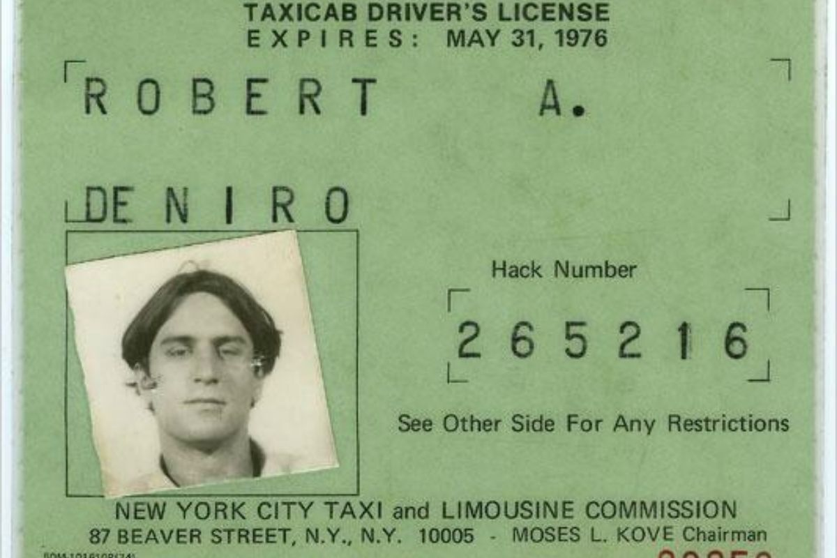 Robert De Niro Was Once a Real Taxi Driver