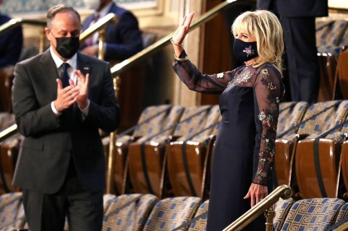 Dr. Jill Biden's Outfit Goes Viral After Joint Congress Address