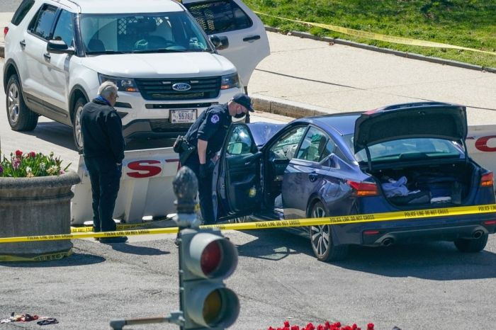 Officer Killed After Suspect Rammed Car into Police at US Capitol Barricade