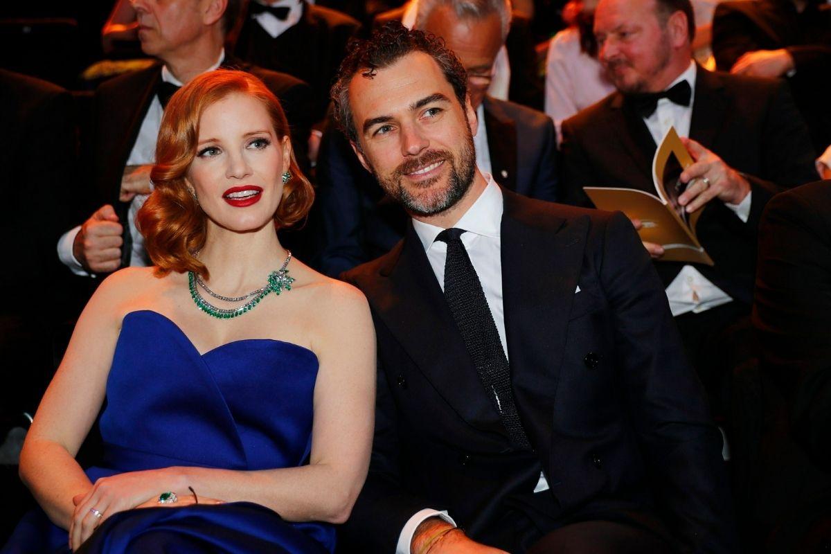 Jessica Chastain and her husband, Gian Luca Passi de Preposulo