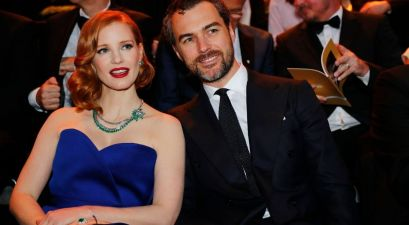Jessica Chastain and her husband, Gian Luca Passi de Preposulo