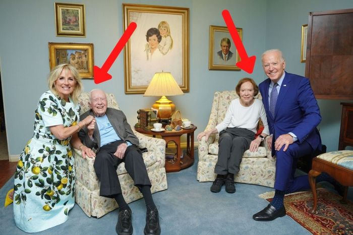 What the Hell Is Going on in This Photo of the Bidens and the Carters?