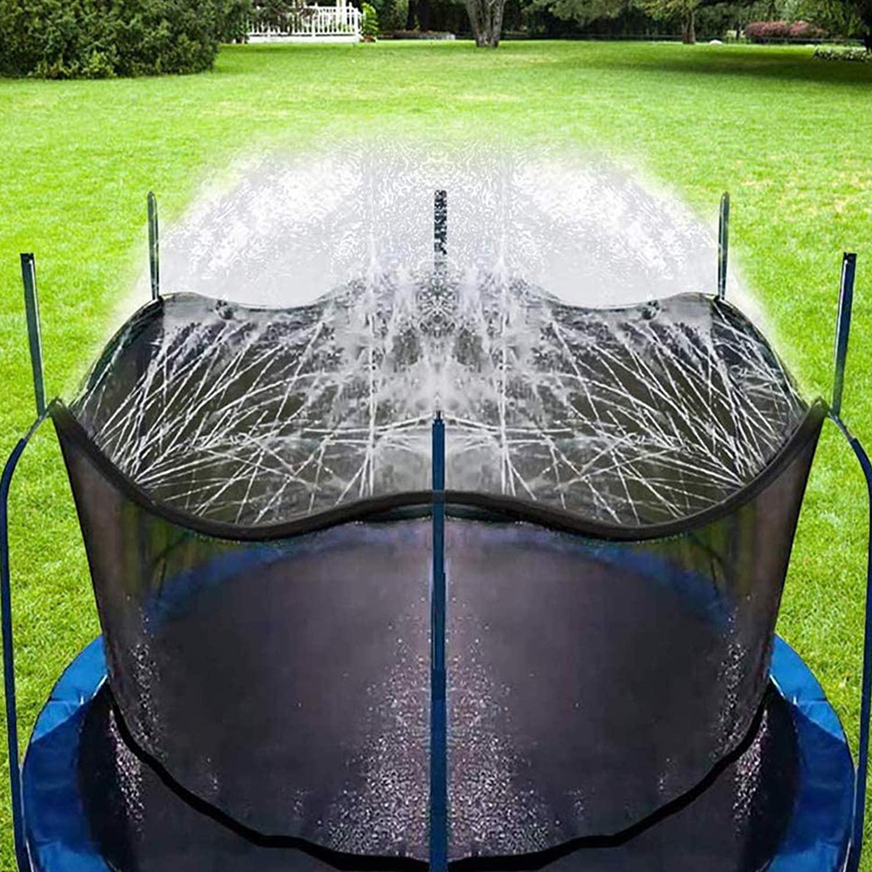 Bobor Trampoline Sprinkler for Kids, Outdoor Trampoline Backyard Water Park Sprinkler Fun Summer Outdoor Water Toys for Boys Girls (39ft)