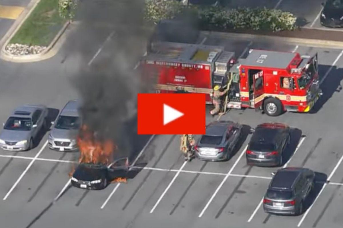 Car Set Ablaze When Driver Lights Cigarette After Using Hand Sanitizer