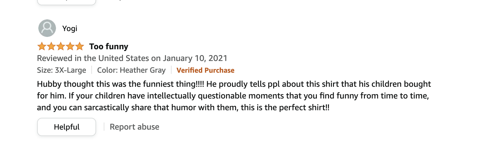funny review father's day tee