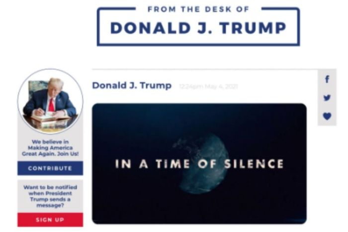 "Trump Launches New Website to Speak to Followers: ""A Beacon of Freedom"""