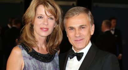 Judith Holste and Christoph Waltz