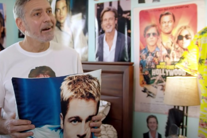 George Clooney Reveals His Fanboy Crush on Brad Pitt in Charity Video