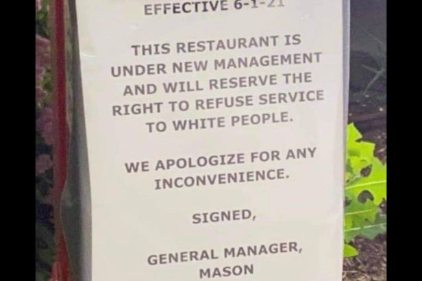 Popeyes' Sign Refusing Service to White People Causes Uproar