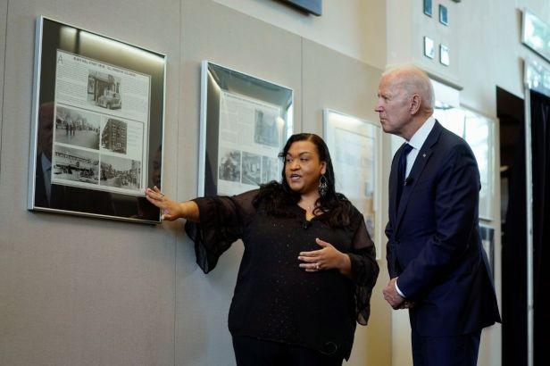 Biden Visits and Honors Survivors of the Tulsa Race Massacre