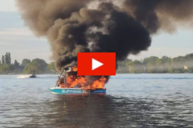 Boat Bursts into Flames After Harassing Family with Gay Pride Flags