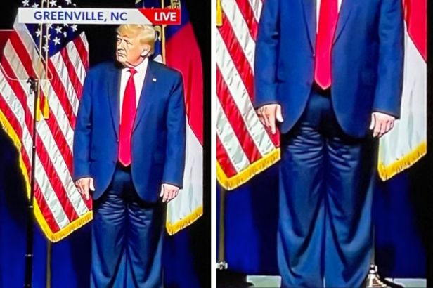 The Internet Believes Donald Trump Wore His Suit Pants Backwards During Speech